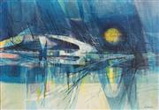 Sale 8753A - Lot 5017 - Lawrence Daws (1927 - ) - Swan Over the Seine, c1958 - 1959 70 x 100cm