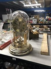 Sale 8797 - Lot 2491 - Glass Dome Clock with Another Clock