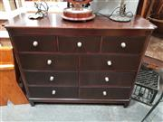 Sale 8843 - Lot 1050 - Drexel Chest of Nine Drawers with Fluted Front