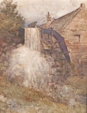 Sale 9038A - Lot 5039 - Louis Buvelot (1814 - 1888) - The Old Mill, Heidelberg, c1880 26 x 18 cm