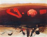 Sale 8902A - Lot 5039 - Lawrence Daws (1927 - ) - Conjunction of Planets 58 x 74 cm