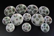 Sale 8957 - Lot 6 - A Group of Early Famile Rose Dishes (12)
