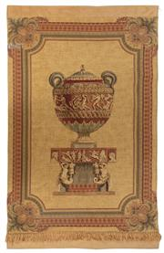 Sale 9040H - Lot 65 - A tapestry depicting an Urn (2.1m height 1.3m wide)