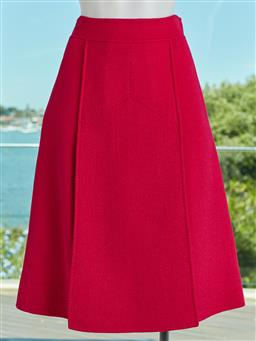 Sale 9120K - Lot 21 - A Bally A line skirt in fuchsia pink size,  UK32