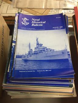 Sale 9152 - Lot 2415 - Collection of Naval Magazines incl. Naval Historical Bulletin; Naval Historical Review; White Ensign; etc