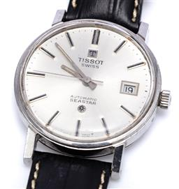 Sale 9194 - Lot 542 - A TISSOT SEASTAR AUTOMATIC WRISTWATCH; ref. 44524-5 in stainless teel with sunburst dial, applied markers, center seconds, date, 248...
