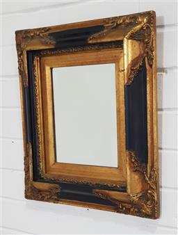 Sale 9218 - Lot 1031 - Early gilt timber frame mirror ( 46 x 40cm)