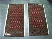 Sale 7937A - Lot 1150 - Pair of Persian Hand Made Turkoman Rugs (103 x 48cm)