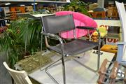 Sale 7987A - Lot 1226 - Modern Design Stool with Pink Folding Chair & Cantilever Chair