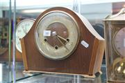 Sale 8189 - Lot 66 - British Westminster Timber Mantle Clock