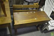 Sale 8277 - Lot 1047 - Double School Desk with Bench Seat