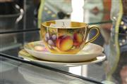 Sale 8324 - Lot 3 - Royal Worcester Fruit Painted Trio