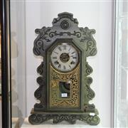 Sale 8351 - Lot 62 - Ansonia Timber Mantle Clock