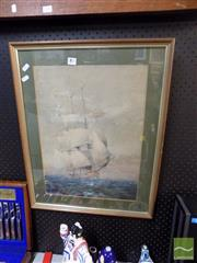 Sale 8468 - Lot 2091 - Charles Billick Sea Galleon (1969)- Signed Lower Left