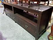 Sale 8545 - Lot 1058 - Modern Timber Entertainment Unit with Three Drawers
