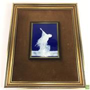 Sale 8648A - Lot 206 - Framed Plaque Signed Lower Right Limoges (Frame Size 33 x 41, Plaque Size 14 x 19)