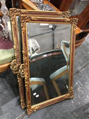 Sale 8744 - Lot 1069 - Pair of Gilt Framed Bevelled Mirrors