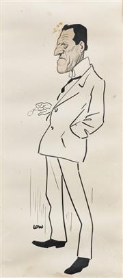 Sale 8892A - Lot 5080 - Sir David Low (1891-1963) - Portrait Of A Gentleman (published in The Bulletin), 1917 49 x 22 cm