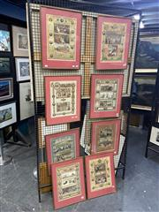 Sale 8924 - Lot 2029 - Set of (8) C19th colour lithographs depicting scenes of Queen Victoria and Parliament