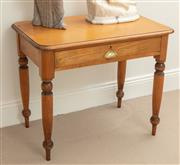 Sale 9070H - Lot 111 - A single drawer pine occasional table, Height 76cm x Width 91cm x Depth 57cm