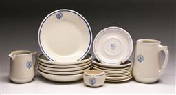 Sale 9144 - Lot 106 - A collection of Rhodesia Railways ceramics inc plates and jugs (H:16cm and 11cm)