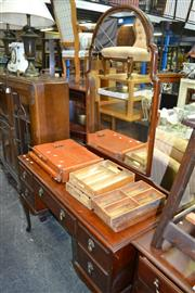 Sale 8093 - Lot 1130 - Mahogany Mirrored Back Dressing Chest
