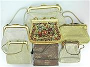 Sale 8173F - Lot 364 - SIX VINTAGE GLOMESH HANDBAGS AND AN EMBROIDERED BAG; 3 by Oroton, 1 Whiting & Davis, 1 Glomesh, the others unmarked.