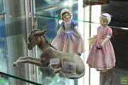 Sale 8256 - Lot 7 - Lladro Donkey with 2 Royal Doulton Figures Dinky Do & Tinkle Bell