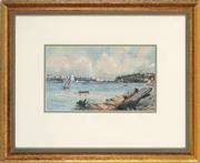 Sale 8779 - Lot 2031 - A Theobald - Sydney Harbour from Berry Island, 1930 15 x 25cm