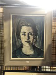 Sale 8824 - Lot 2028 - Louise Cornwell - Mrs Alexander, Cremorne Point, frame size: 58 x 48cm