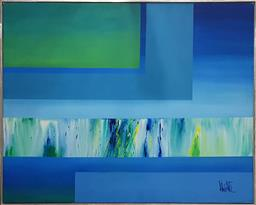 Sale 9117 - Lot 1043 - A Retro Abstract Painting by Valenti from Vanguard Studios, California, 124 x 155cm
