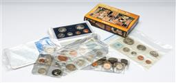 Sale 9164 - Lot 147 - A collection of world coins and sets incl Austral and NZ
