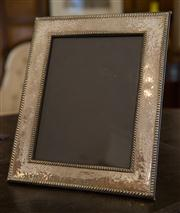 Sale 7981B - Lot 50 - A extra large Sterling Silver photo frame with hammmertone finish; 260mm x 320mm