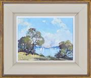 Sale 8337A - Lot 79 - Rhys Williams (1894 - 1976) - The Harbour from Cremorne 19 x 24.5cm