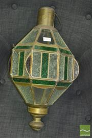Sale 8341 - Lot 1012 - Moroccan Coloured Glass Hanging Light