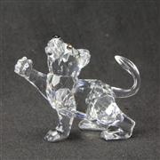 Sale 8412B - Lot 99 - Swarovski Crystal Lion Cub with Box - Height 4.8cm