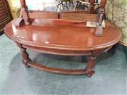Sale 8566 - Lot 1218 - Oval Timber Coffee Table