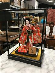 Sale 8782 - Lot 1336 - Geisha Doll On Timber Stand (A/F)