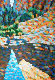 Sale 8902A - Lot 5042 - Stan de Teliga (1924 - 1998) - Through Olga Gorge 1988 132 x 92 cm