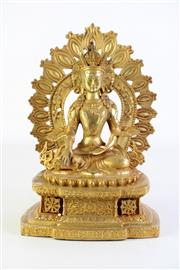 Sale 8890T - Lot 1 - Guanyin Figure with Aura Backing (H27cm)