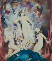 Sale 9080A - Lot 5050 - Norman Lindsay (1879 - 1969) - The Dear Things 36 x 30 cm (sheet: 60 x 52 cm)