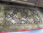 Sale 7919A - Lot 1716 - Small Persian Silk Rug with Hunting Scene