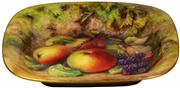 Sale 8065 - Lot 80 - Royal Worcester Painted Fruit Dish by Thomas Lockyer