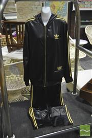 Sale 8287 - Lot 1092 - Vintage Wet Look Adidas Track Suit XXL
