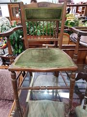 Sale 8904 - Lot 1092 - Pair of Edwardian Carver Chairs