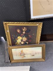 Sale 8924 - Lot 2072 - 2 Works: Still Life In Gilt Frame With Another