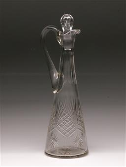Sale 9098 - Lot 25 - A 19th Century Cut Crystal Wine Decanter,  H:31.5cm