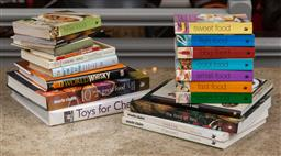 Sale 9160H - Lot 179 - A shelf lot of cook books including Toys for Chefs, Marie Claire magazine publications