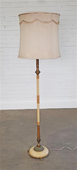 Sale 9218 - Lot 1074 - French style brass floor lamp (h176cm)