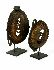 Sale 3850 - Lot 13 - TWO MAPRIK YAM MASKS ON STANDS EAST SEPIK PROVENCE PAPUA NEW GUINEA